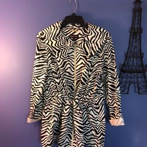 Dana Buchanan zebra jacket size XL